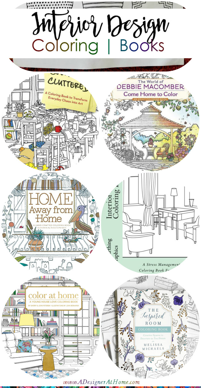 Interior Design Coloring Books Matching Passion with Stress Relief