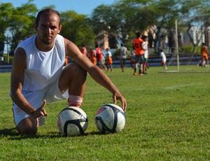 Fabinho Cambalhota vai completar 100 jogos pelo Sergipe (Foto: Felipe Martins/GLOBOESPORTE.COM)