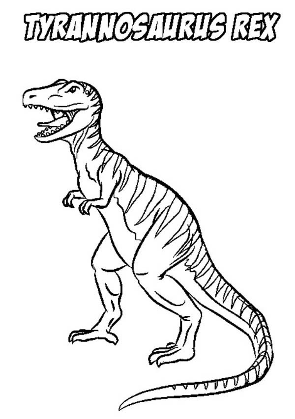 Coloring And Drawing Coloring Pages Dinosaurs T Rex