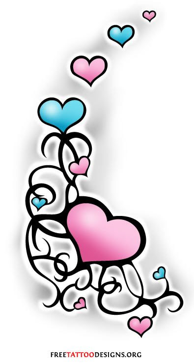 Heart And Ribbon Tattoo Designs Clipart Free Download Best Heart