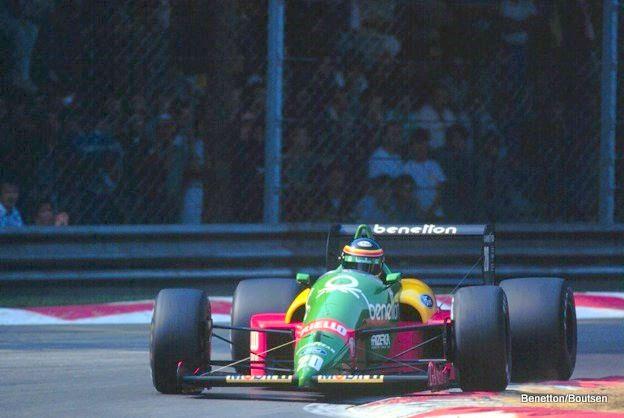 La Benetton de Thierry Boutsen en 1988.