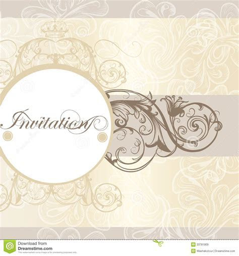 Wedding Invitation Card For Design Stock Vector