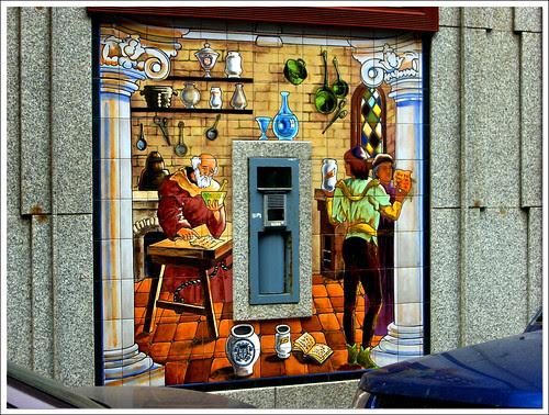 torno de famacia: mosaico