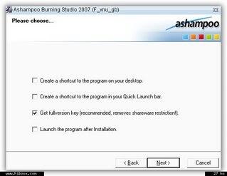 Offre promotionnelle ! : Ashampoo Burning Studio 2007 gratuit !