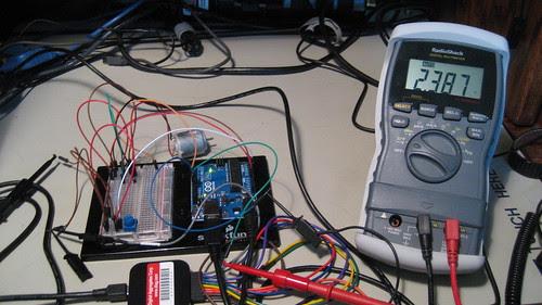 Digital Voltmeter: Programmed 25% PWM Duty Cycle
