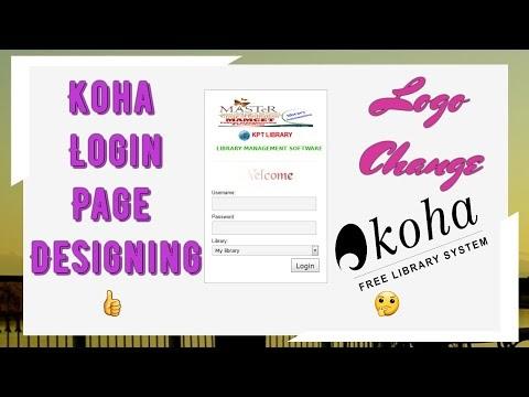 How to Koha Login Page Design and Change  Logo.