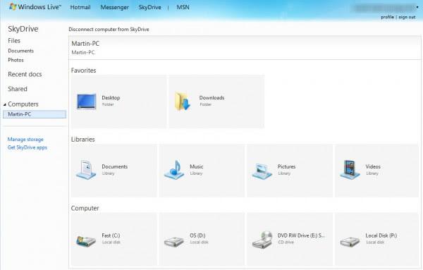 pc remote files access