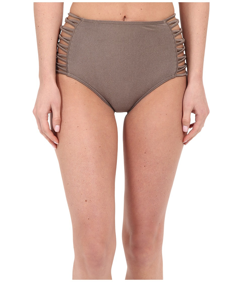 O'Neill - Lux Solids High Waist Pant Bottoms (Metallic Bronze) Women's Swimwear