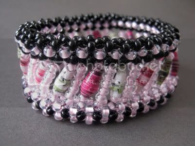 Pink Orchid Bangle