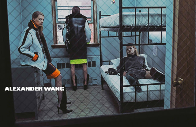 Anna, Vanessa, Kaitlin, Lexi & Kat by Steven Klein for Alexander Wang Fall/Winter 2014/2015 Campaign new collection, inspiration by fashion blogger turn it inside out
