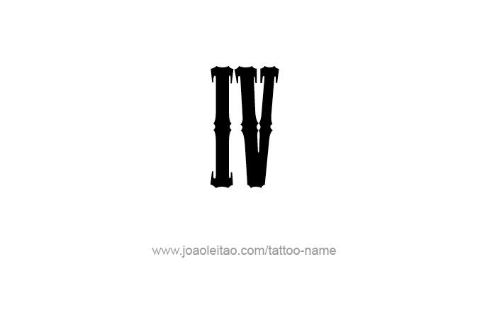 Numero 4 Romano 39974 Trendnet
