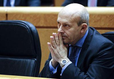 El ministro de Educación, José Ignacio Wert, en el Senado.
