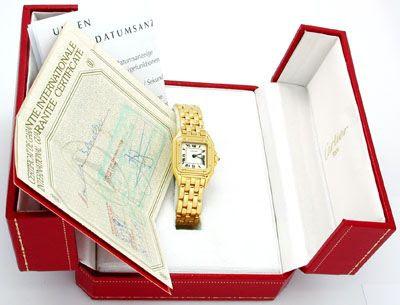 Foto 4, Original Da-Cartier-Panthere Gold Topuhr Neuw Portofrei, U1746