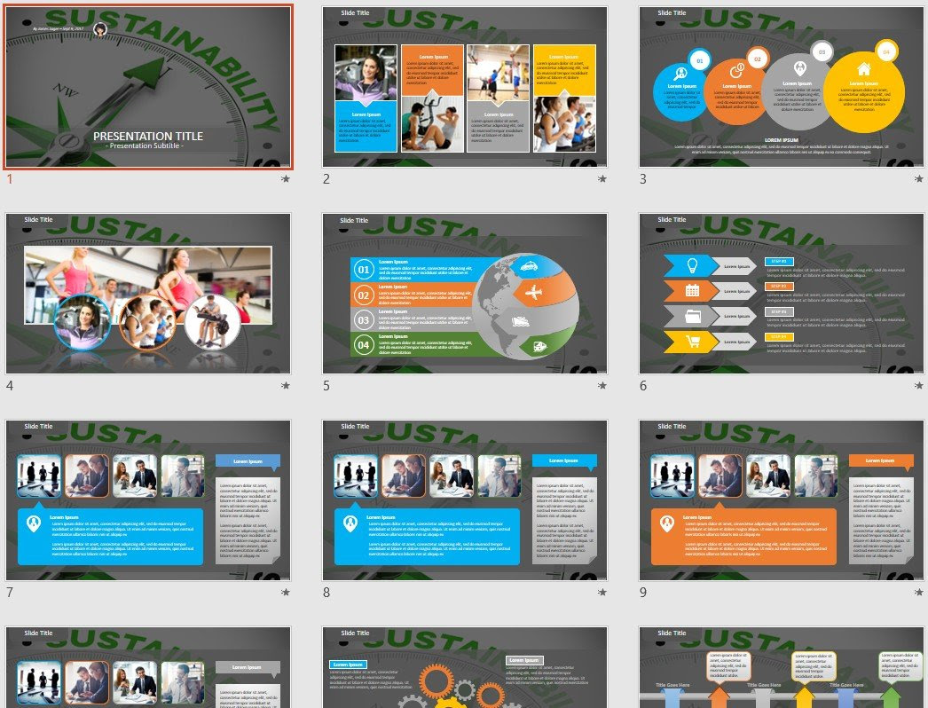 Sustainability Powerpoint Template 77433