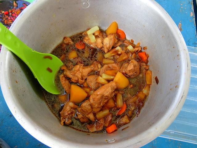 Cooking on banka, Palawan, Philippines