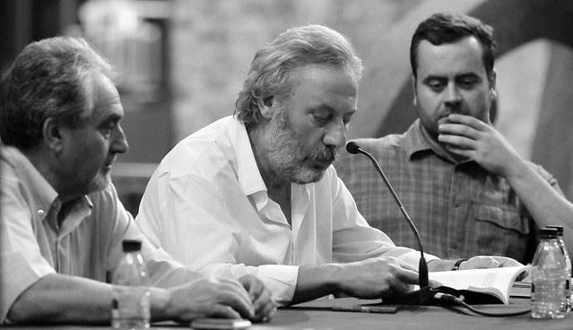 """PRESENTACIÓN DE LA NOVELA """"LAS LÁGRIMAS DE SAN LORENZO"""" DE JULIO LLAMAZARES EN EL MUSEO DE SABERO - 11.08.13"""