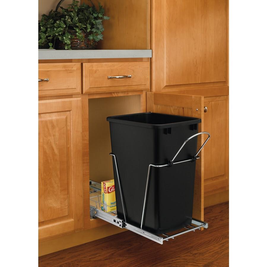 Shop Rev-A-Shelf 35-Quart Plastic Pull Out Trash Can at ...