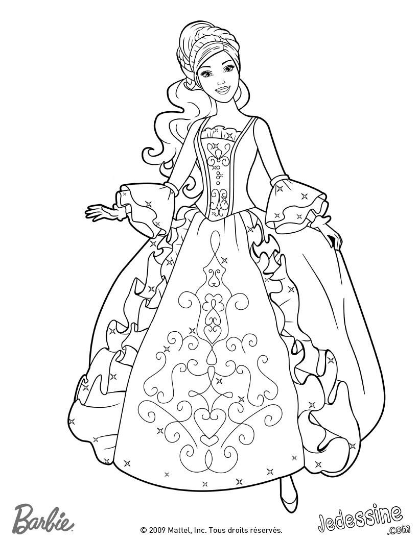 Coloriage de Corinne Coloriage de Viveca dans sa belle robe 3 Coloriage Coloriage BARBIE Coloriage BARBIE