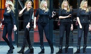 Kate Upton Blusa Transparente Pantalones Ajustados Con Botas
