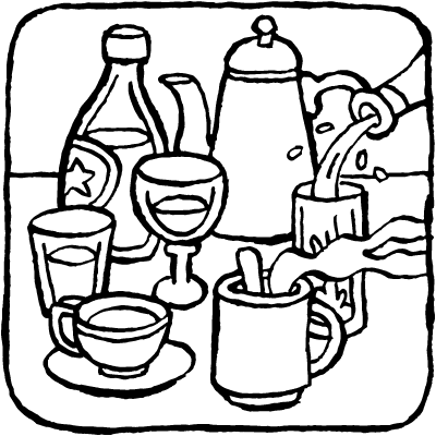 drinks coloring pages at getcolorings  free printable