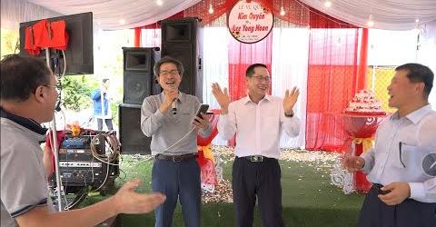 아버님 친구분의 축하노래- Bạn cha chồng hát tặng chúc mừng đám cưới