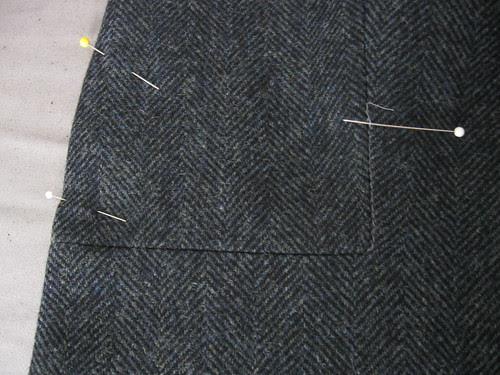 Burda jacket stay stitch corner