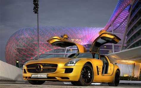 2010 Mercedes Benz SLS AMG Desert Gold 5 Wallpapers   HD Wallpapers