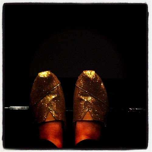 Sparkly Toms o to the movies!