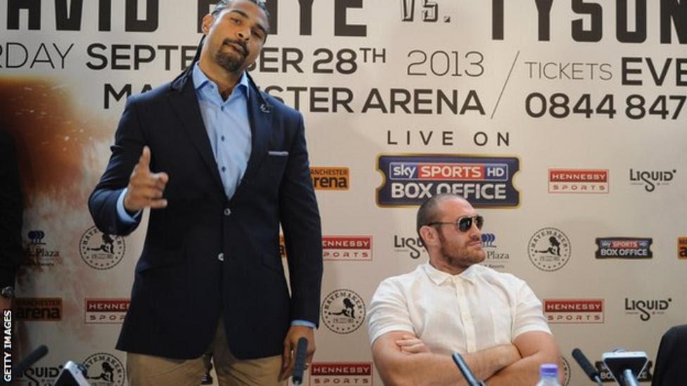 David Haye and Tyson Fury