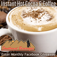 Sippity instant hot chocolate and instant Kemosabe coffee