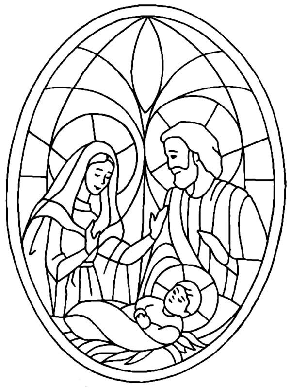 Nativity Scene Bible Christmas Story Coloring Pages  Best Place to Color