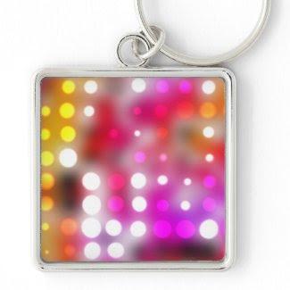 Dots pattern keychain