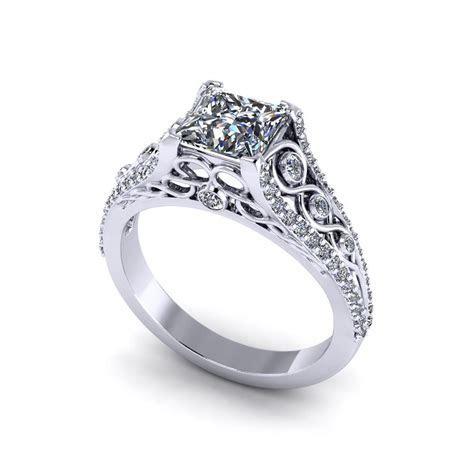 Beautiful Princess Engagement Ring   Jewelry Designs
