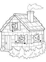 Coloriage Les Trois Petits Cochons Sur Top Coloriages Coloriages