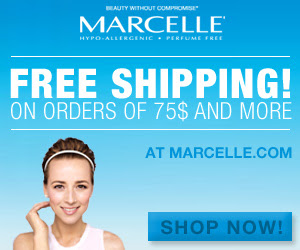 US: FREE SHIPPING on orders over $75 or more at Marcelle.com!