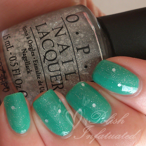 green with envy layered with pirouette my whistle