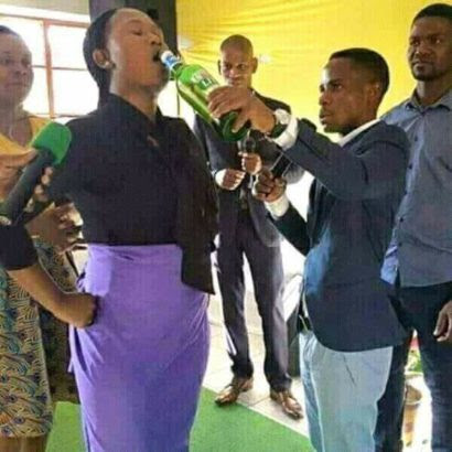 See church where pastor gives members beer before deliverance (Photos)