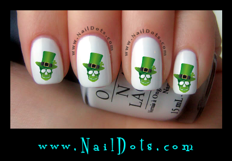 St Patricks Day Nail Decals Nail Decals Nail Dots Decals For