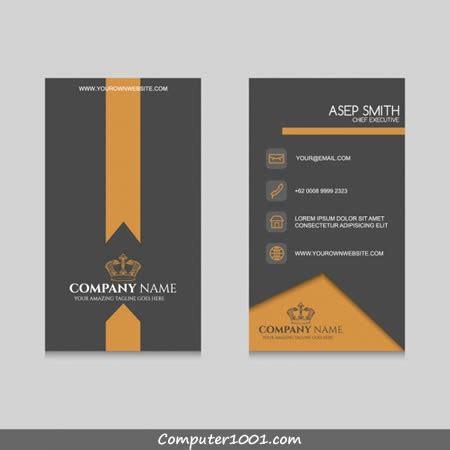 gratis  template kartu nama terbaru computer