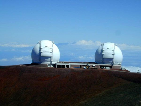 The Keck telescopes atop Mauna Kea in Hawaii have been used to confirm planetary discoveries made by the Kepler spacecraft.