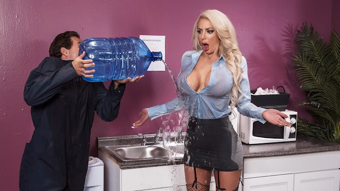 Big Tits At Work: Water Cooler Cock Nicolette Shea