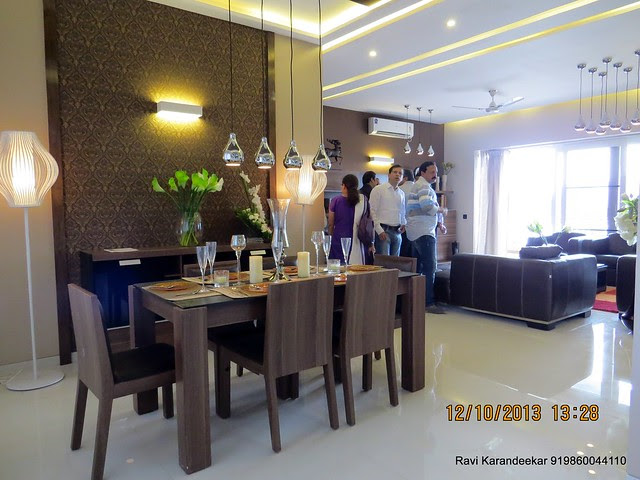 View of dining & living - Did you visit the 4 BHK show flat of Metro Jazz, opposite VITS Hotel,  Mhalunge - Baner Annex?