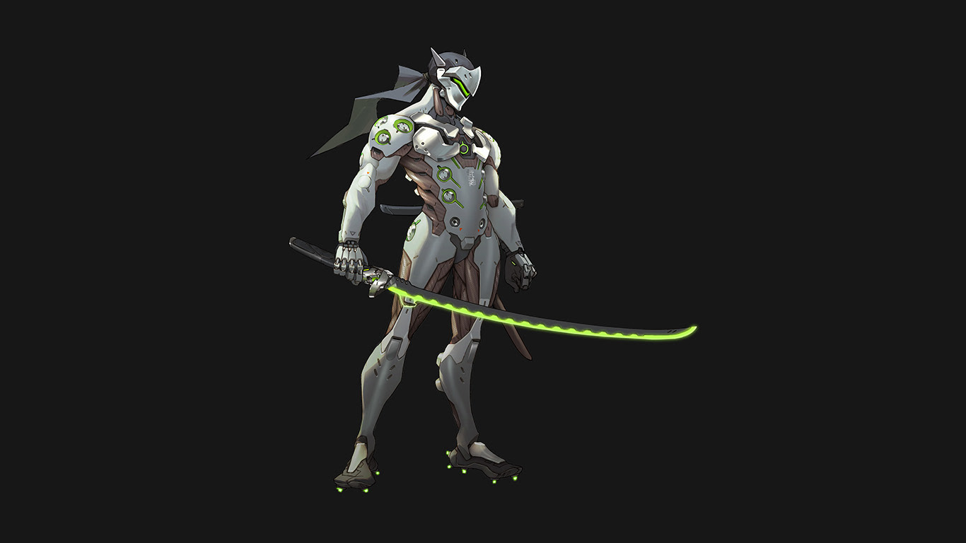 Wallpaper For Desktop Laptop As31 Overwatch Genji Dark Art