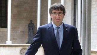 Carles Puigdemont al Palau de la Generalitat