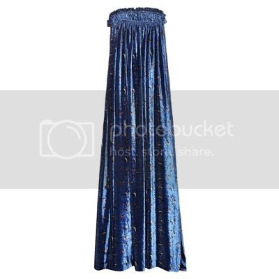 Chloé Printed velvet floor-length dress