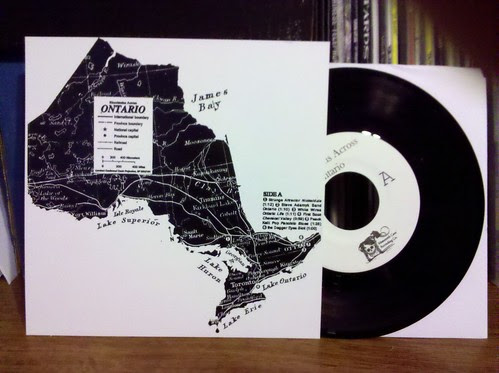 "V/A - Bloodstains Across Ontario 7"" Compilation - w/ Steve Adamyk Band, White Wires, Young Governor & more"