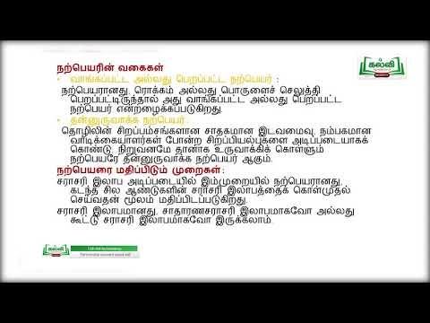 12th Accountancy கூட்டாமை கணக்குகள் நற்பெயர் அலகு 4 Kalvi TV