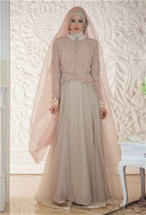 gambar  foto desain baju  model gaun hijab pengantin