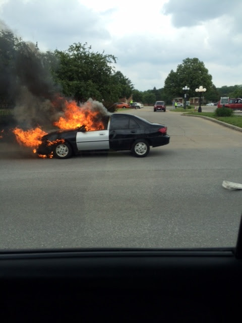 This guy was having a bad day when his car caught on fire, instantly turning it into a junk car.  He lost his title in the fire.  If you have lost your title, or have trouble with your paperwork on your junk car, we can help.  Call us first (317) 454-3202