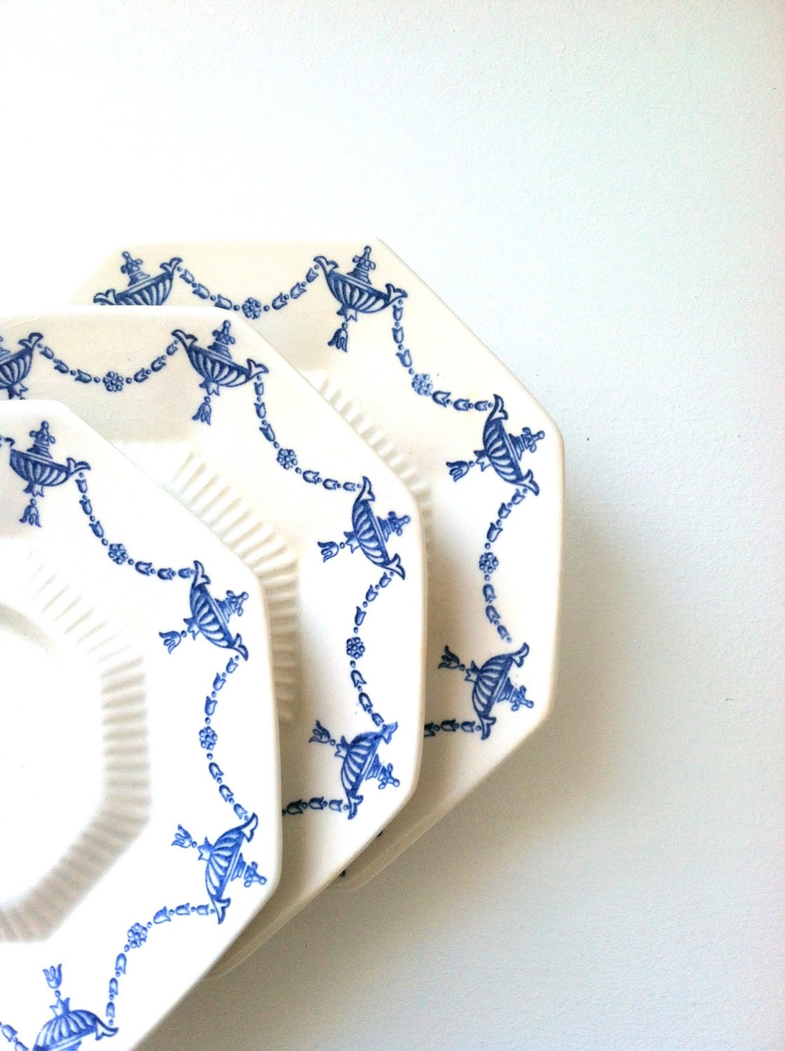 Antique Delft Blue Independance Ironstone China Castleton 3 Tiered High Tea Stand Birthday, Thank You or Housewarming Gift Inspiration - MariasFarmhouse